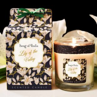 LITTLE PLEASURES SCENTED CANDLE  LILLY OF THE VALLEY