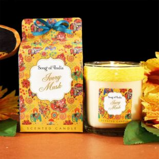 IVORY MUSK SCENTED WAX CANDLE