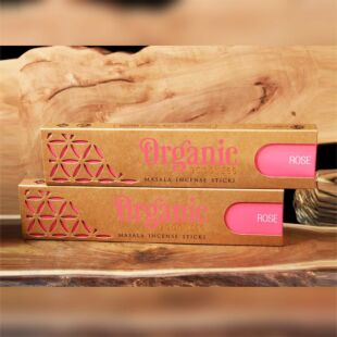 ORGANIC MASALA INCENSE STICKS - ROSE (SET OF 12)