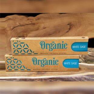 ORGANIC MASALA INCENSE STICKS - WHITE SAGE (SET OF 12)