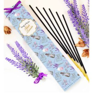 25g. LITTLE PLEASURE NATURAL  INCENSE WANDS - FRENCH LAVENDER (SET OF 12)
