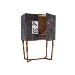 MOROCCAN GREASE TILED BAR CABINET