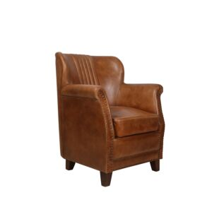 COURO BROWN ARMCHAIR