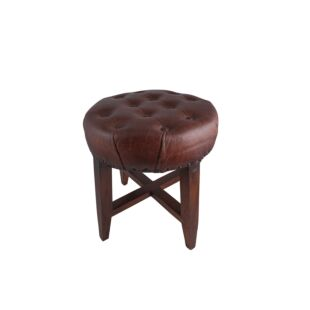 BUTTON TUFTED FOOT STOOL