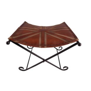 X SHAPED BENCH, LEATHER AND IRON