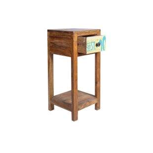 WOODEN NIGHT TABLE WITH DRAWER