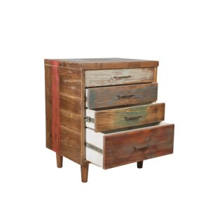 DISTRESSED WOODEN FINISHED INDUSTRIAL DRAWER