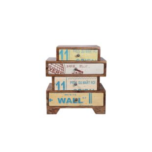 RECLAIMED WOOD DRAWER, MULTICOLOURED
