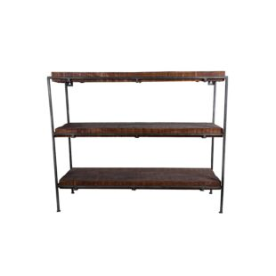 METAL WOOD INDUSTRIAL BOOKSHELF