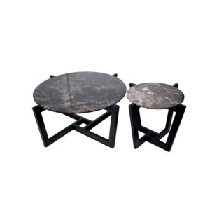 VERRE IMPRIME INTERIOR GREY PLIEZ NESTING COFFEE TABLE