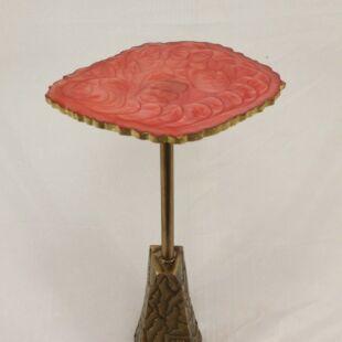 CARRARA TEXTURED SIDE TABLE