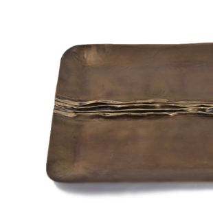 Oblong Patina Accent Tray - Large