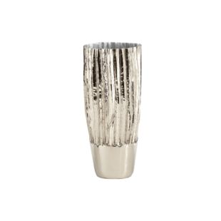 DIAMANTE PLATA FLOWER VASE