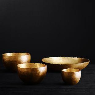 DYLAN PEPITA HAMMERED GOLD BOWL