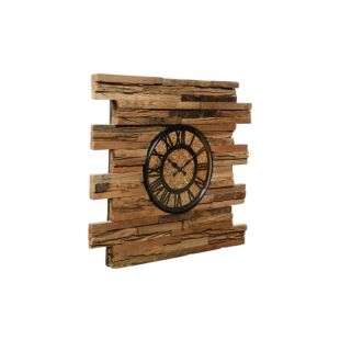 Reclaimed Wooden Railway Sleeper Wall Clock