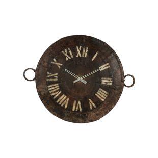 Upcycled Old Rustic Iron Kadai Cooking Pot Wall Clock