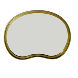 GOLD PORCELEIN MIRROR