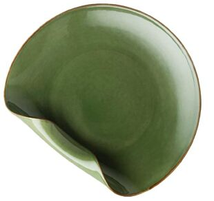 HARPERA GREEN GLOSS FOLDED PLATE