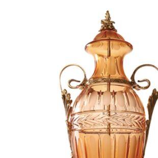 AMBER HOLLOW CRYSTAL JARS