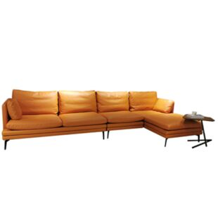 AMEDEI PORCELANA TAWNY LEATHER SOFAS