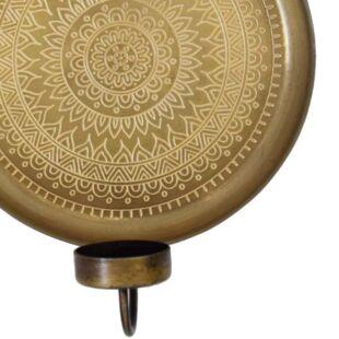 Velarte Brass Candle-Holder Wall Art