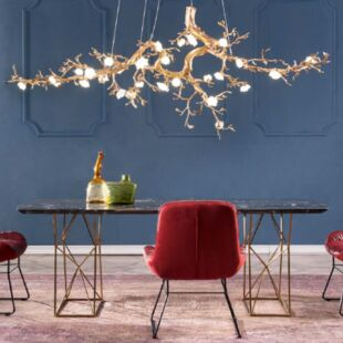 BIG PEONY 1200X700mm LUXE SUSPENDED LAMP
