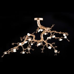 BIG PEONY 3000X1000mm LUXE CEILING LAMP