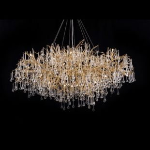 WATER DROP 2500x900x750mm LUXE CEILING LAMP