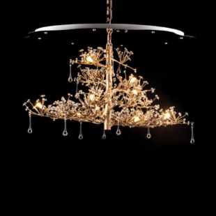 WATER DROP 1000x800x2150mm LUXE SUSPENDED LAMP