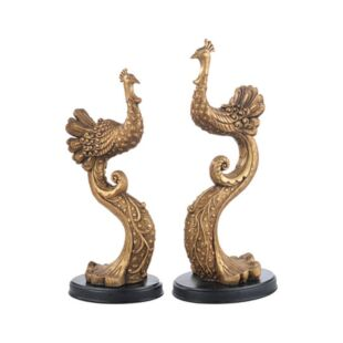 DORADO PEAFOWL BOOKEND