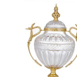 TROPHY SHAPED FLAXEN JAR