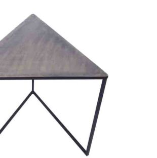 NOIR MAT TRIANGULO NESTING TABLE