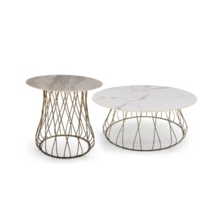 TWIN TORRE JASMINE NESTING COFFEE TABLES