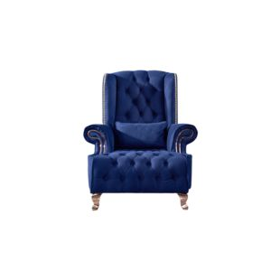 LUELLA BLUE HYDRANGEA ARM CHAIRS